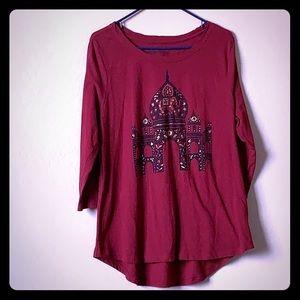 Lucky Brand, red/apple red xl, tunic Taj mahal